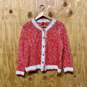 Vintage House of Morrison Red Knit Button Sweater